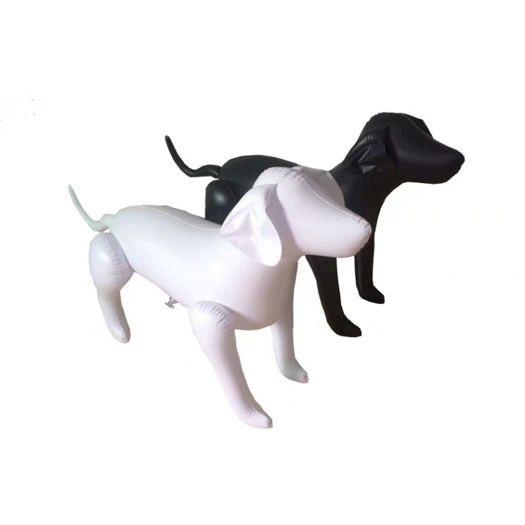 Sturdy and Easy to Fold PVC Inflatable Dog for Room Decoration