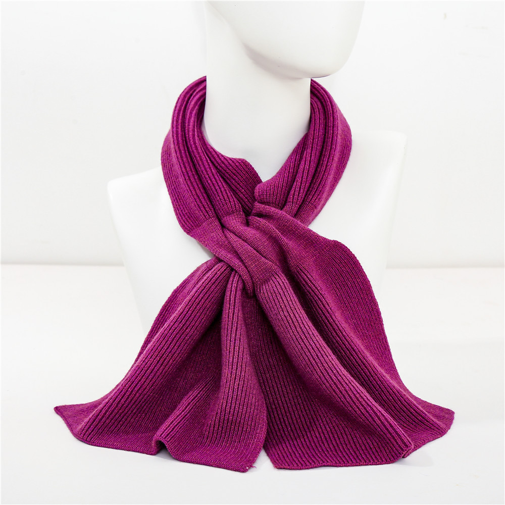 Chic Solid Color Knitted Scarf for Cold Weather Attire