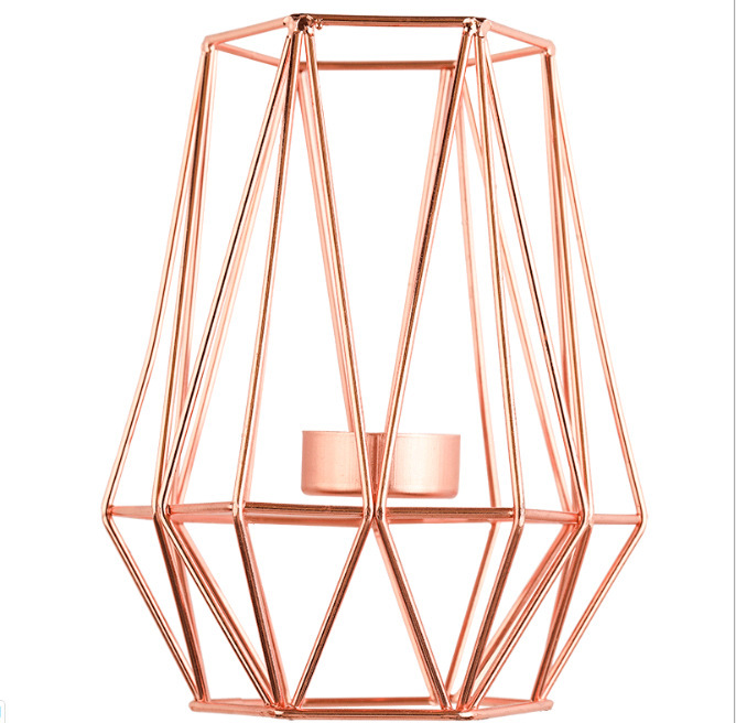 Polished Metal Candle Holder for Lighting Up Aesthetic Room Candles