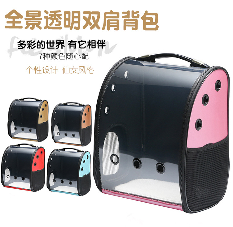 Modern and Transparent Pet Carrier Backpack for Outdoor Travels