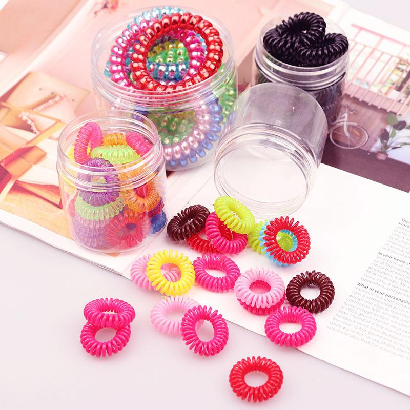 Large Candy Colored Spiral Hair Tie