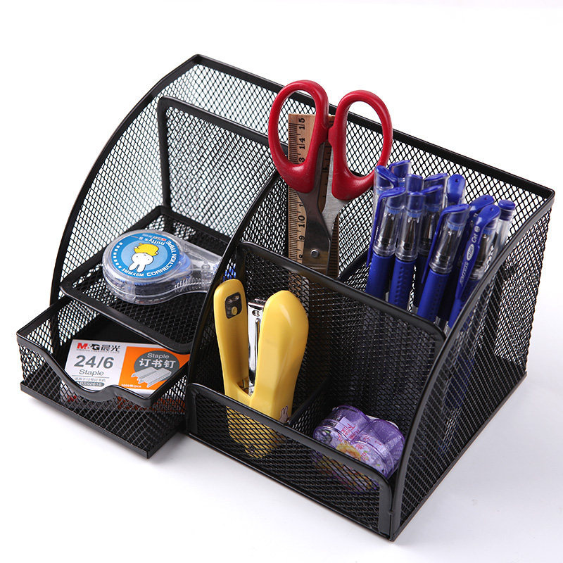 Iron Net Seven-Compartment Storage Rack
