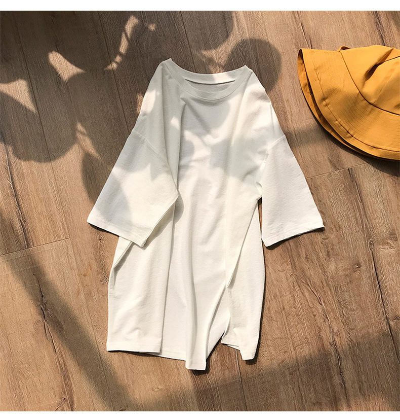 Laid-Back Oversized Shirt with Front Slits for Lounging