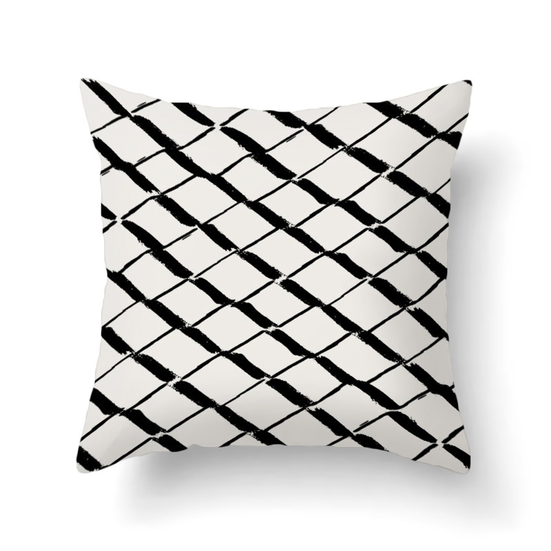 Simple Black and White Pattern Pillowcase for Pillows