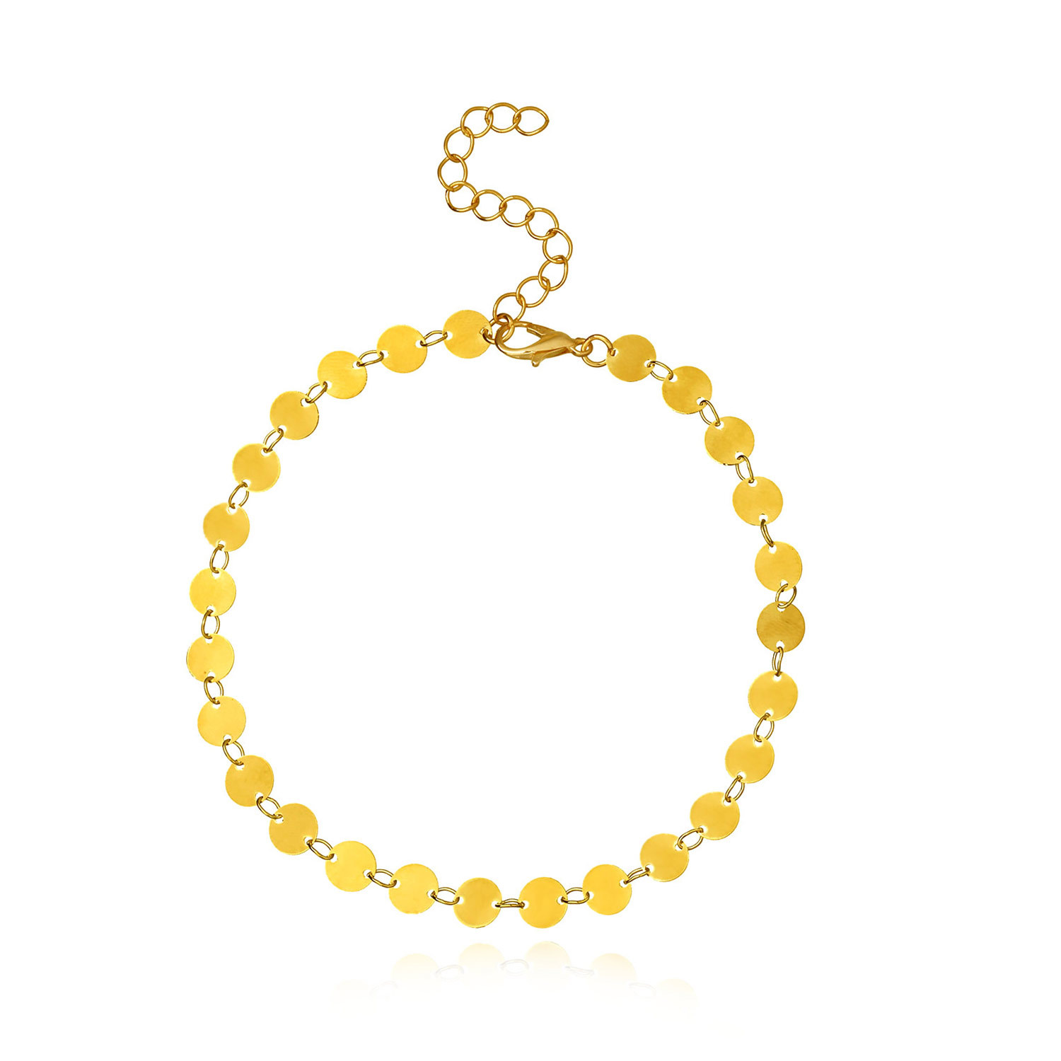Mini Circle Design Anklet for Beach Stylish Look
