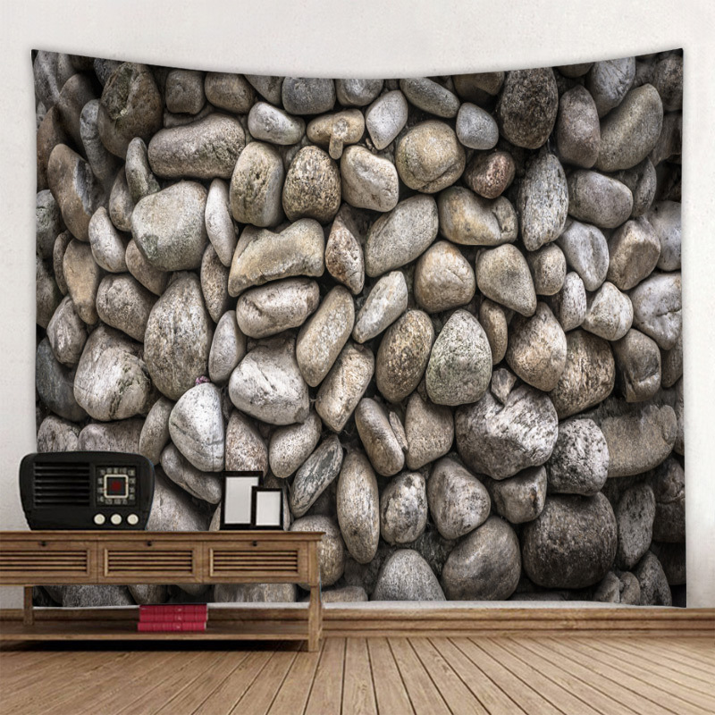 Plain Various Stones Print Tapestry for Wall