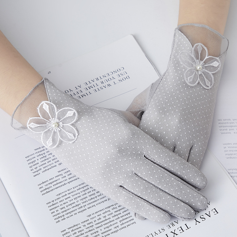 Charming Fine Cotton Gloves for Sun Protection