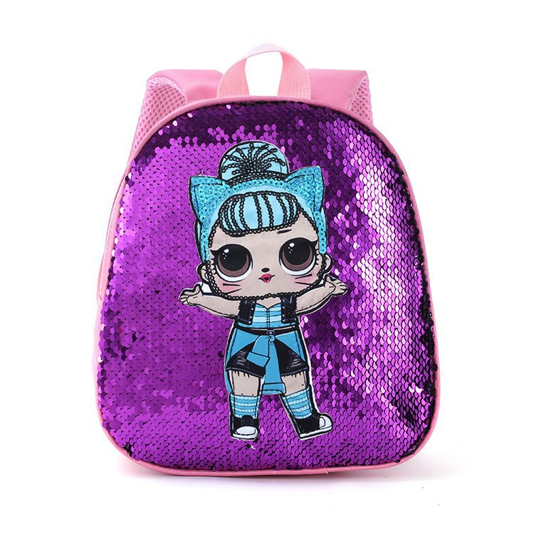 Fancy Sequined Hard Shell Backpack for Stylish Little Girls