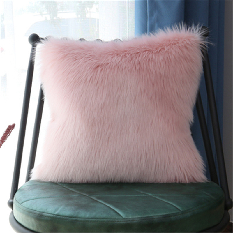 Super Furry Plush Pillows for Recreation Rooms