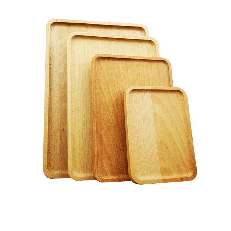 Minimalist Wooden Trays for Serving Tea