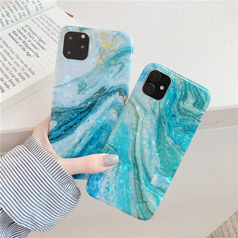Teal Marble Mobile Case for iPhone