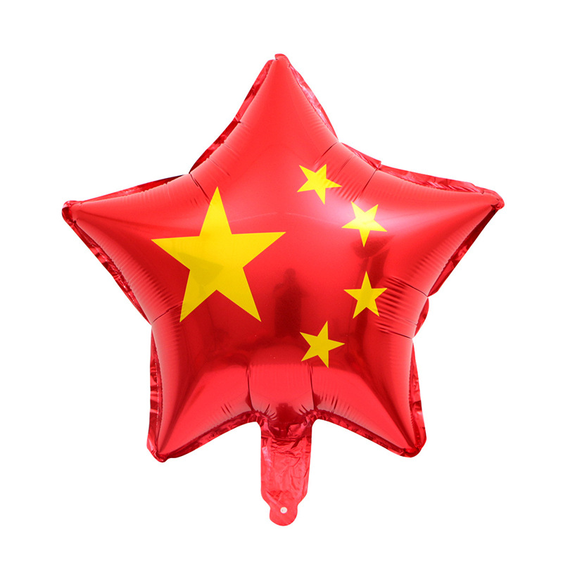 National Day Red Flag Balloon for Party