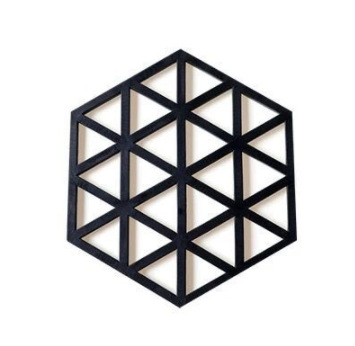 Simple and Edgy Hexagon Placemat with Geometric Line Design for Dining Tables