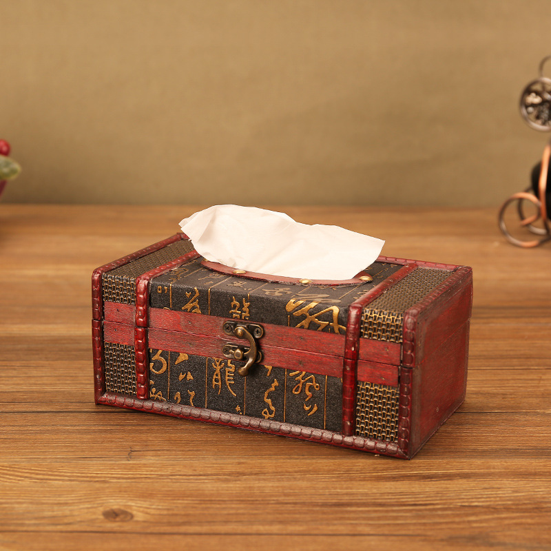 Antique Style Tissue Box Cover for Luxurious Vibe Tables