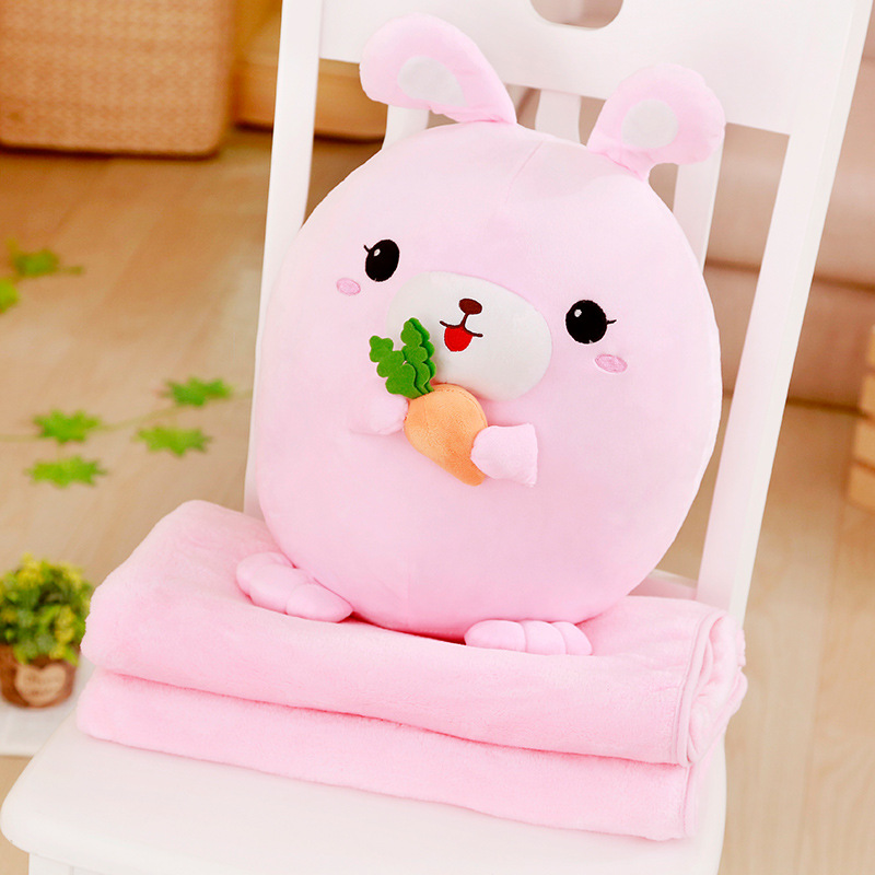 Chinese Zodiac Animal Plushies with Portable Blanket
