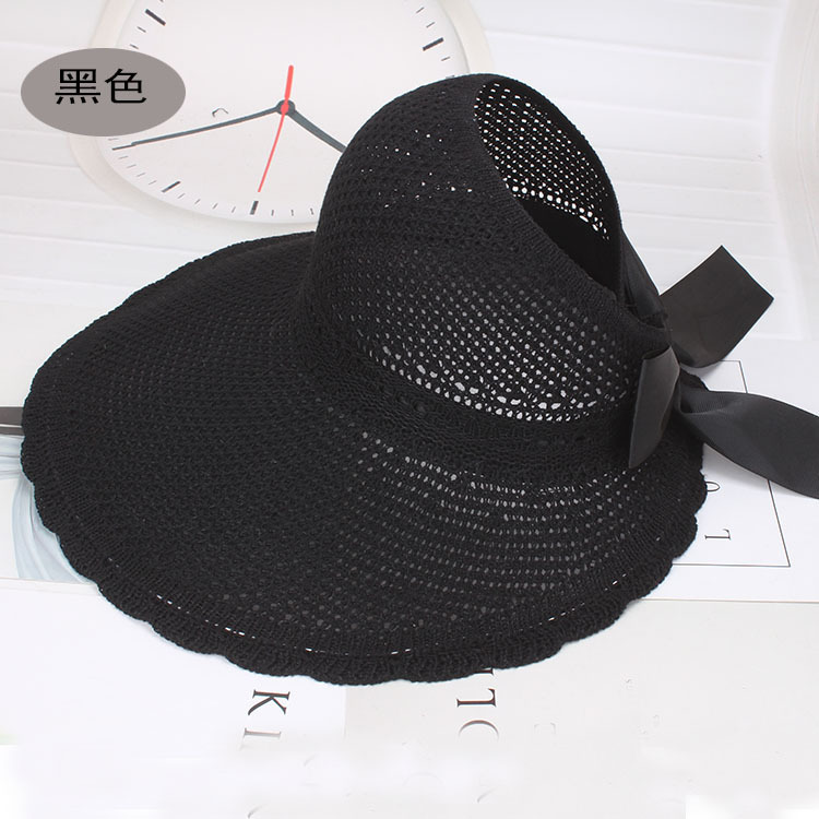 Modish Large-Brimmed Empty-Top Hat for Spring and Summer Escapades