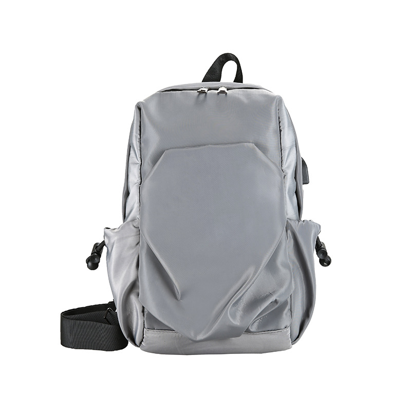 Modern Solid-Colored Sling Bag for Men's Casual Wear