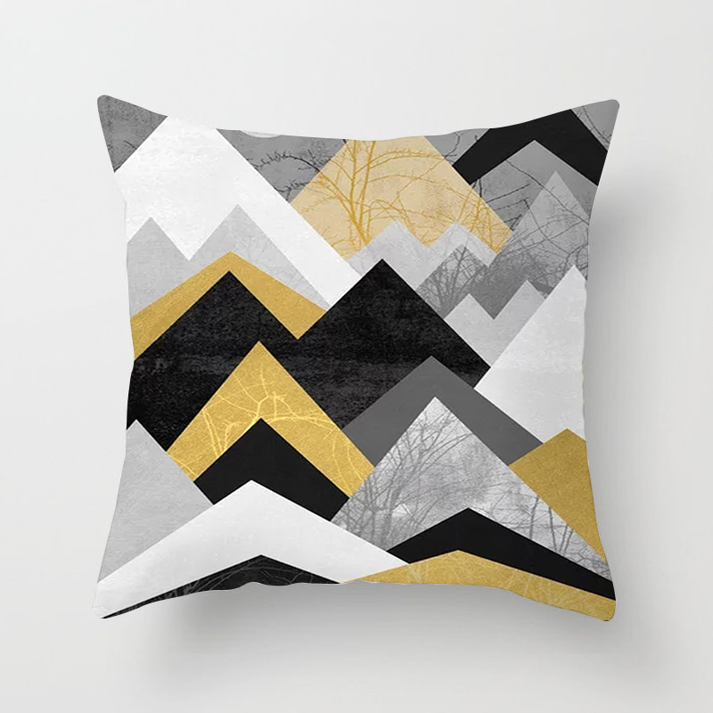 Minimalist Art Deco Print Pillowcase for Modern Style Living Room