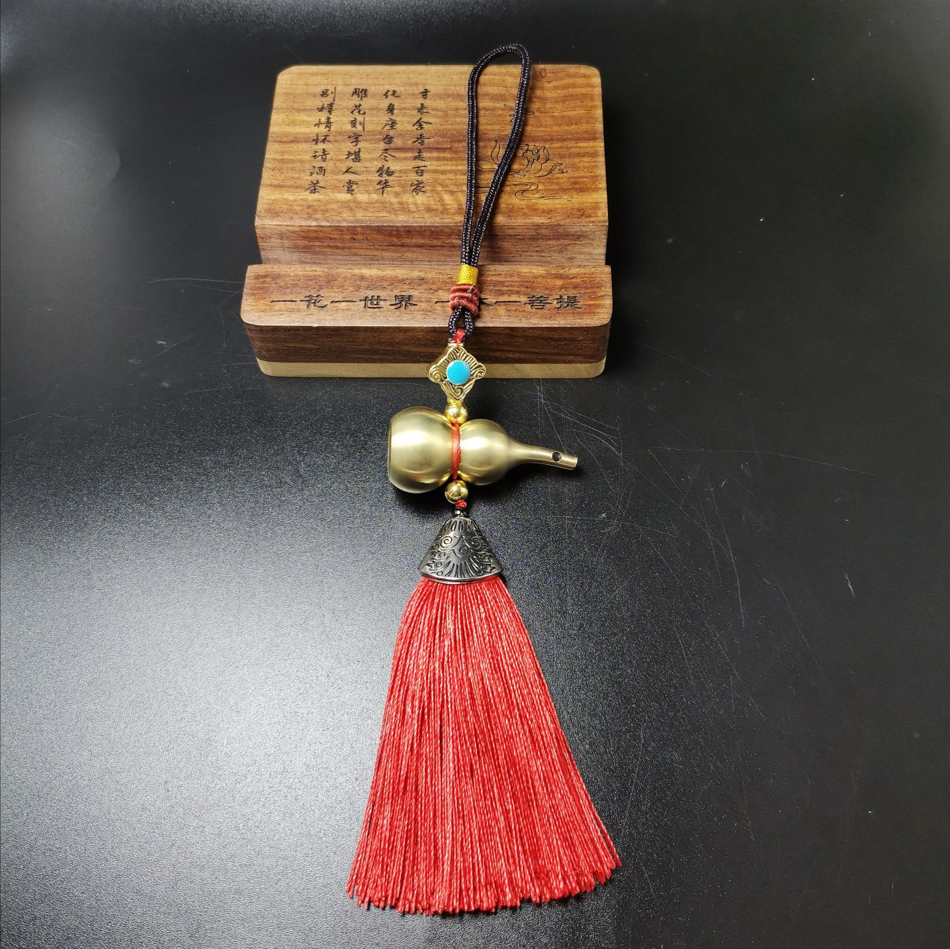 Chinese Gourd Pendant for Rearview Mirror Display