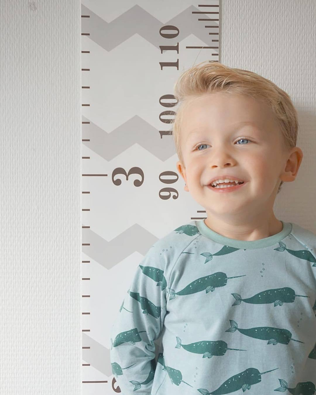 Creative Wall-Adhesive Growth Ruler for Children's Rooms