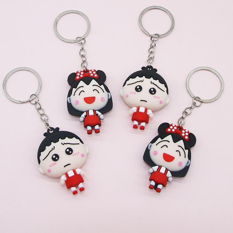Cute Silicone Boy and Girl Keychains for Bag Decoration