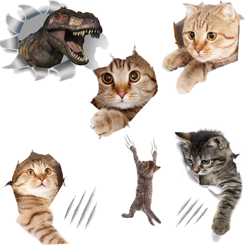 Quirky Three-Dimensional Wall Sticker for Creative Gift Ideas to Pet Owners