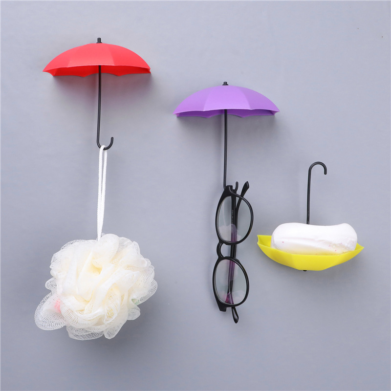 Umbrella-Style Hook for Bar Soap Holder and Other Bathroom Accessories