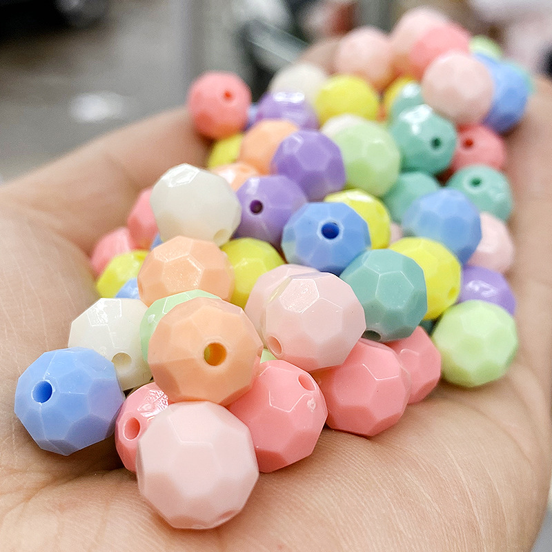 Attractive Solid Color Acrylic Beads for Making Your Own Accessories