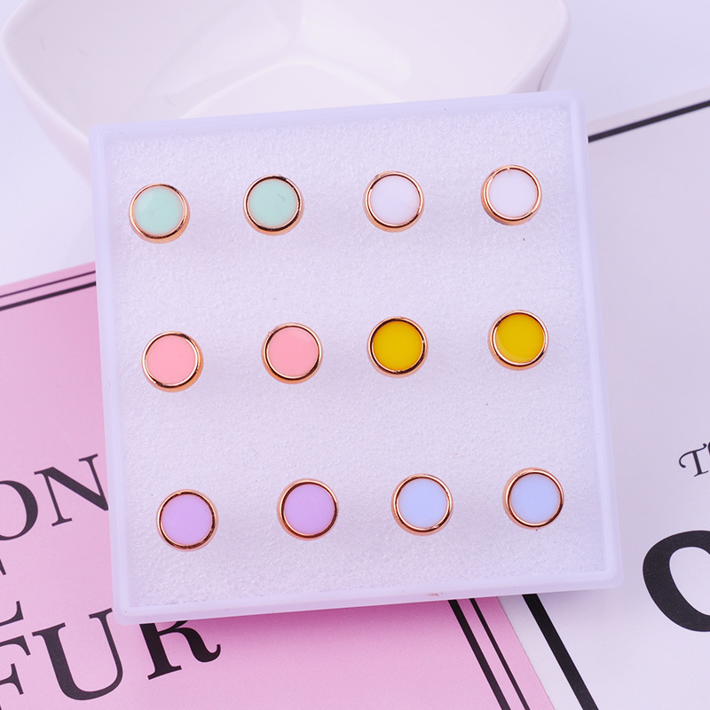 Girly Stud Earrings Set for Teens Everyday Accessory