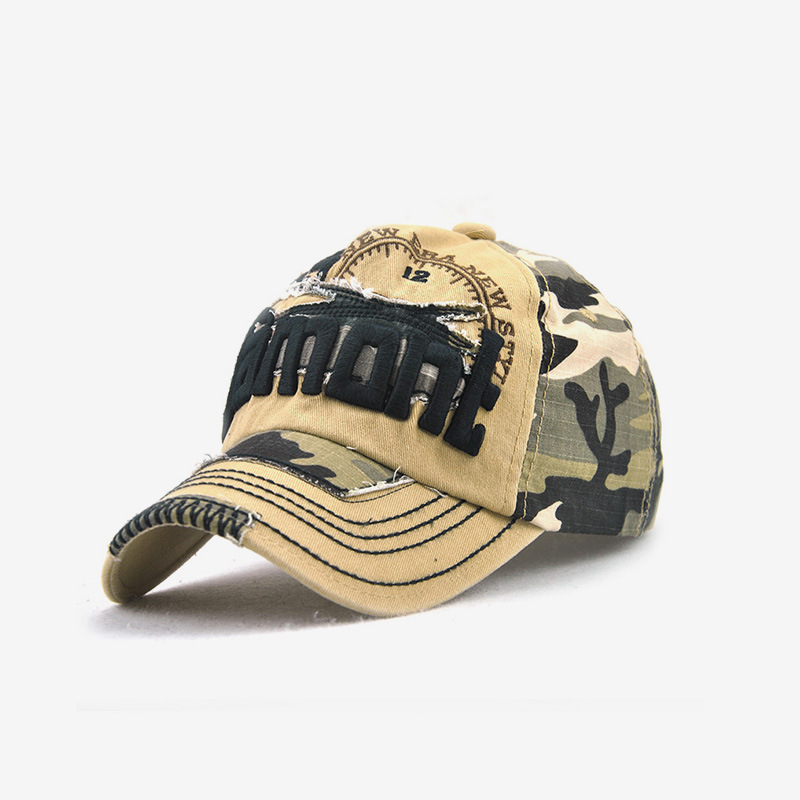 Ragged Camouflaged Baseball Cap for Outdoor Activities