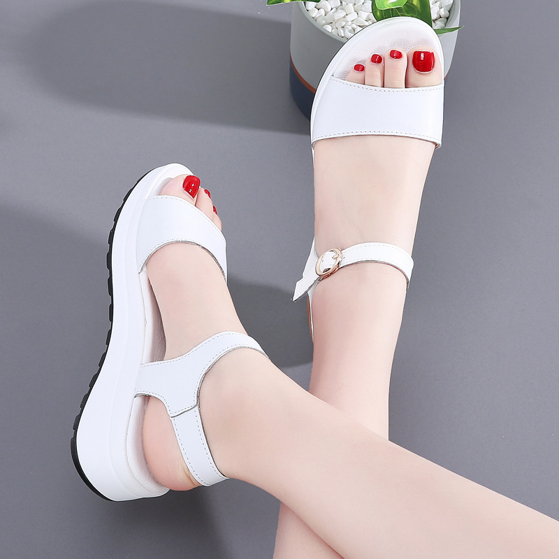 Simple Faux Leather High Slippers for Sleek Summer Footwear