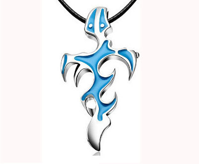 Metal Flame Pendant Alloy Necklace for Trendy Looks