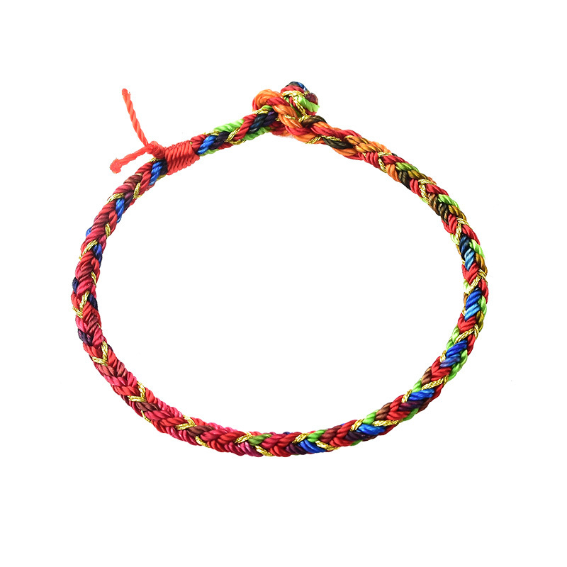 Colorful Braided Rope Bracelet for Casual Wear