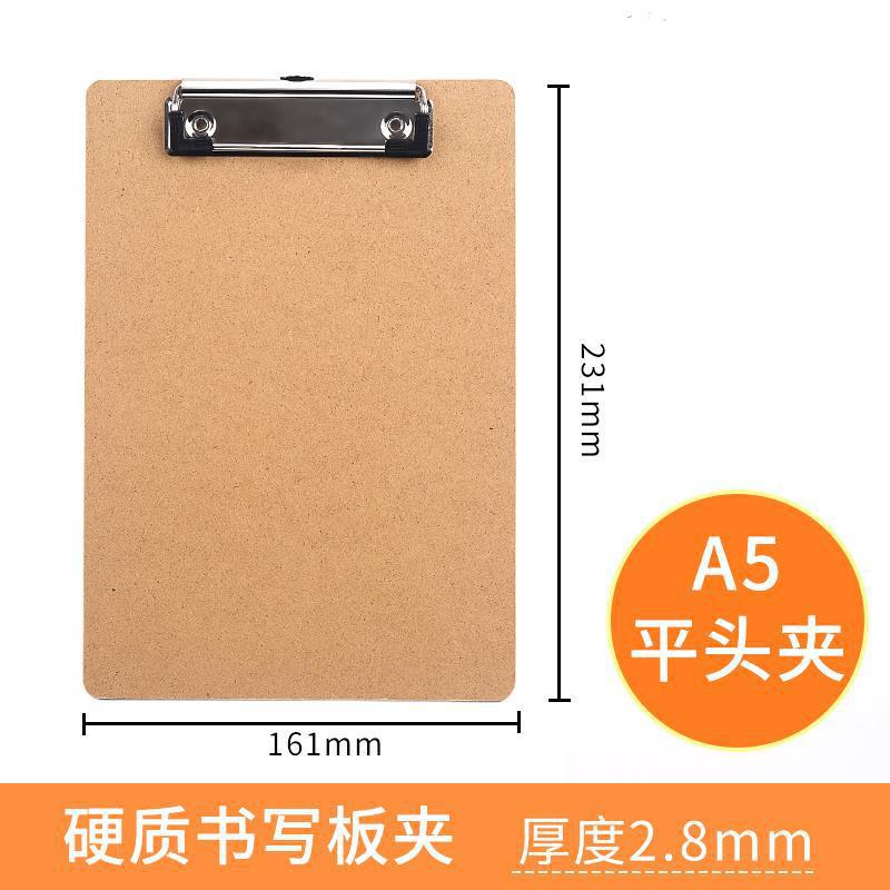 Hard Wooden Clipboard for Writing Underneath Support