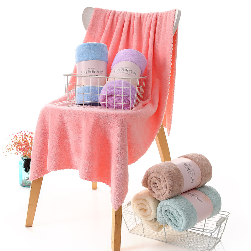Soft Plain-Colored Bath Towel in Various Colors for Wedding Gift Ideas