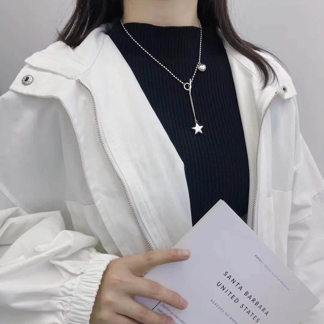 Pulchritudinous Ball Chain Necklace for Preppy Sweater Outfits