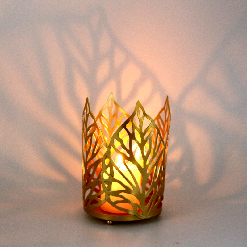 Classy Metal Leaves for Burning Candles