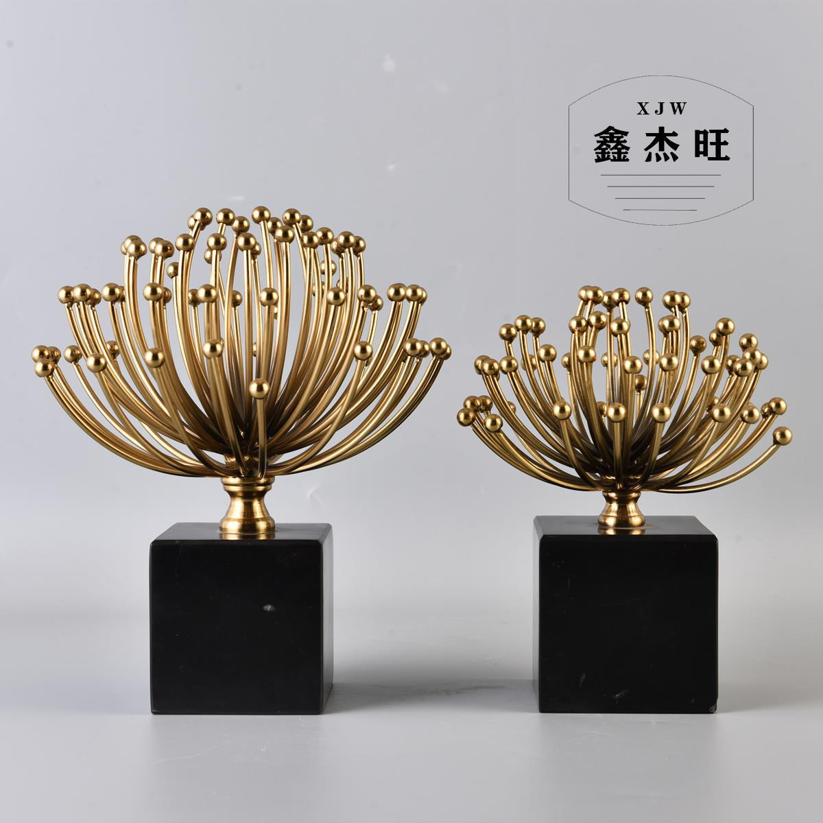 Modernistic Electroplated Flower for Nordic Style Living Room Decorations