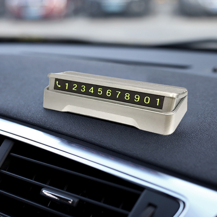 Innovative Interchangeable Car Windshield Decor for Displaying Phone Numbers