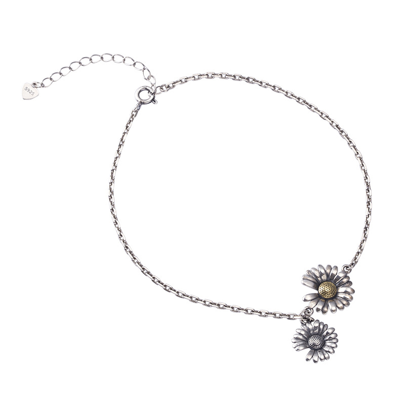 Two Sunflowers Anklet