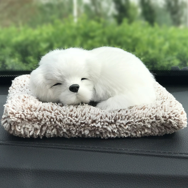 Fluffy Sleeping Plush Cat and Dogs for Car Decor