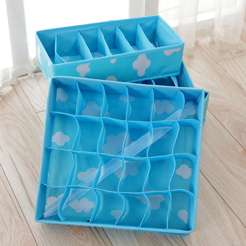 Fabricated Storage Box with Grid for Sorting Items