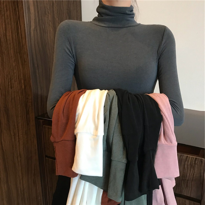Classic Solid Colored Slim Fit Turtle Neck Sweater for Stylish Winter Looks