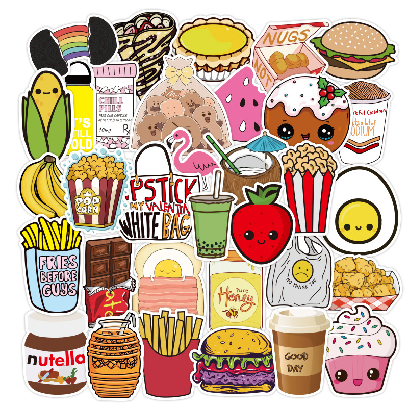 Yummy Foods Sticker (100 Pieces/Set)