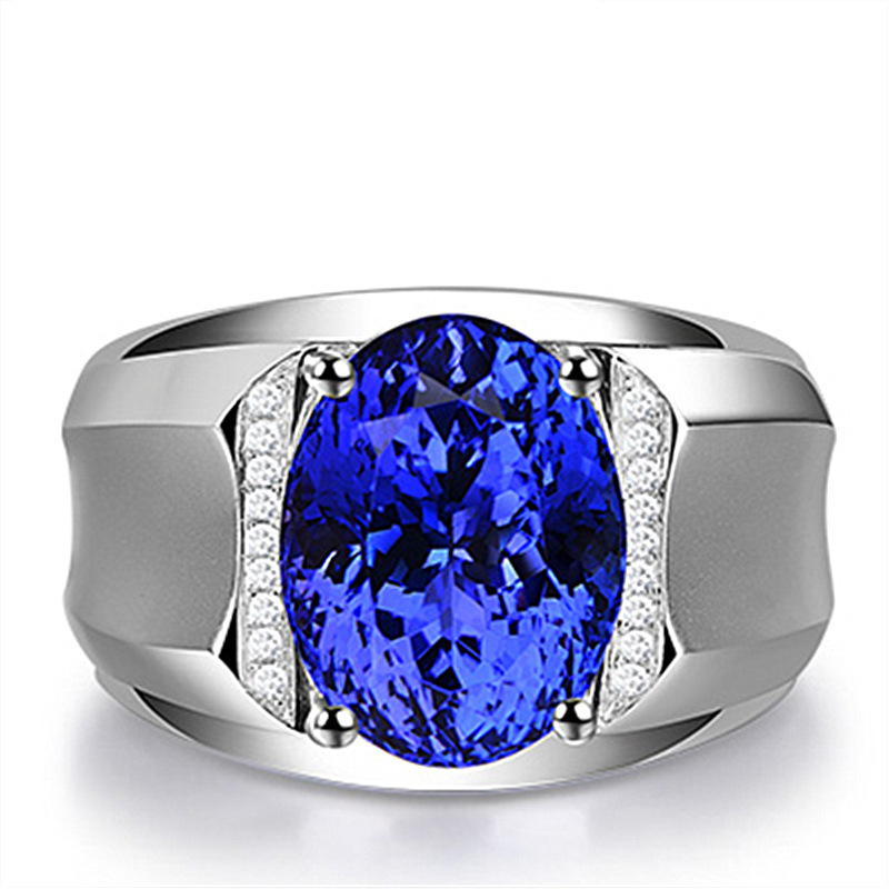 Faux Sapphire Ring for Men