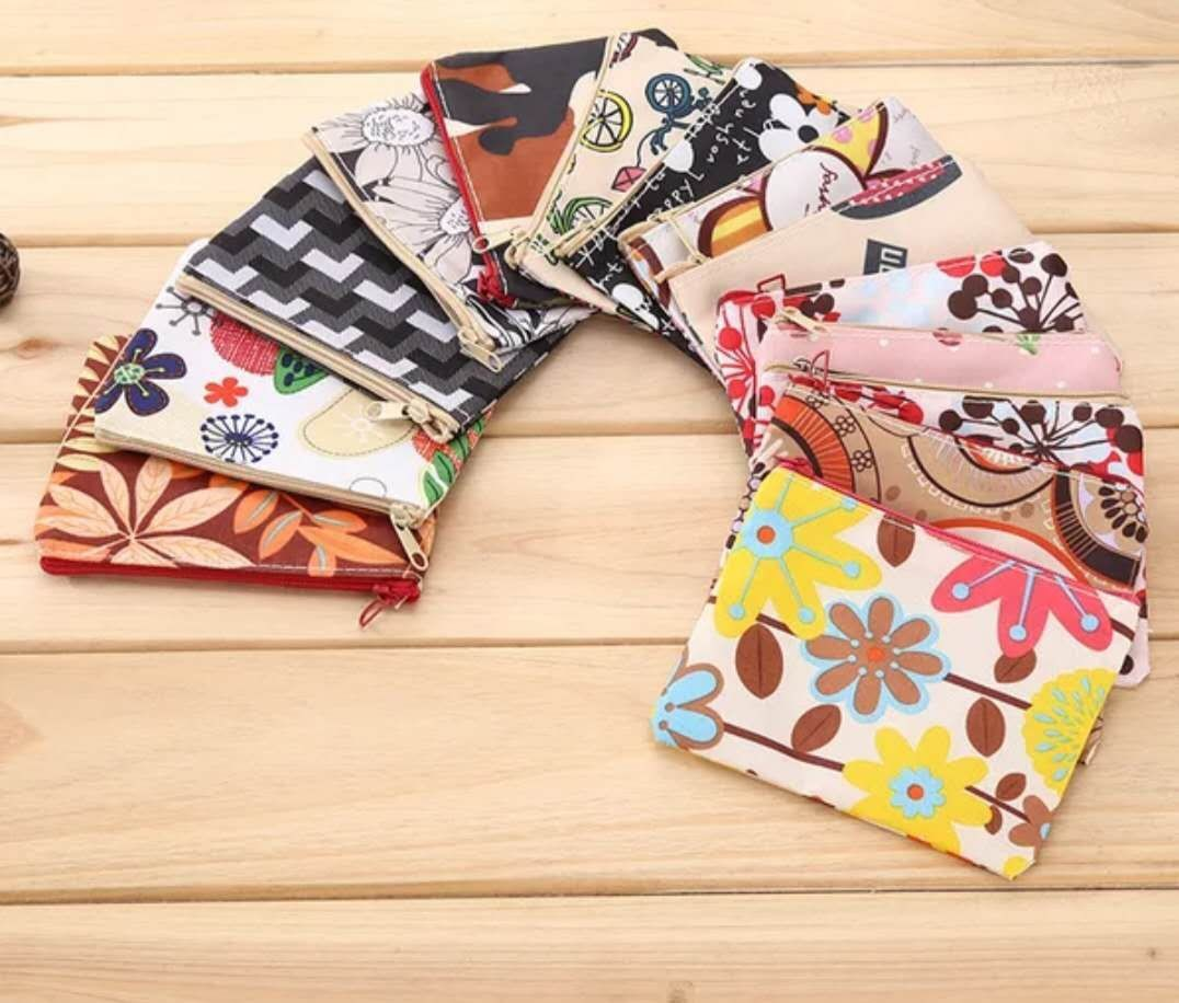 Lightweight Printed Cloth Coin Wallet for Coins Storage