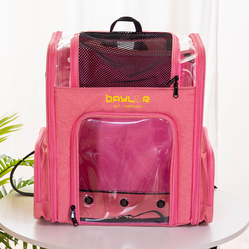Spacious and Breathable Pet Carrier Backpack for Long Vacation Travels