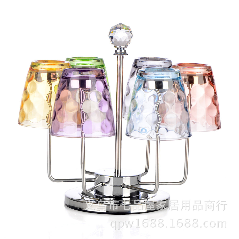 Small Stainless Steel Six Glass Holder for Glasses And Kitchen