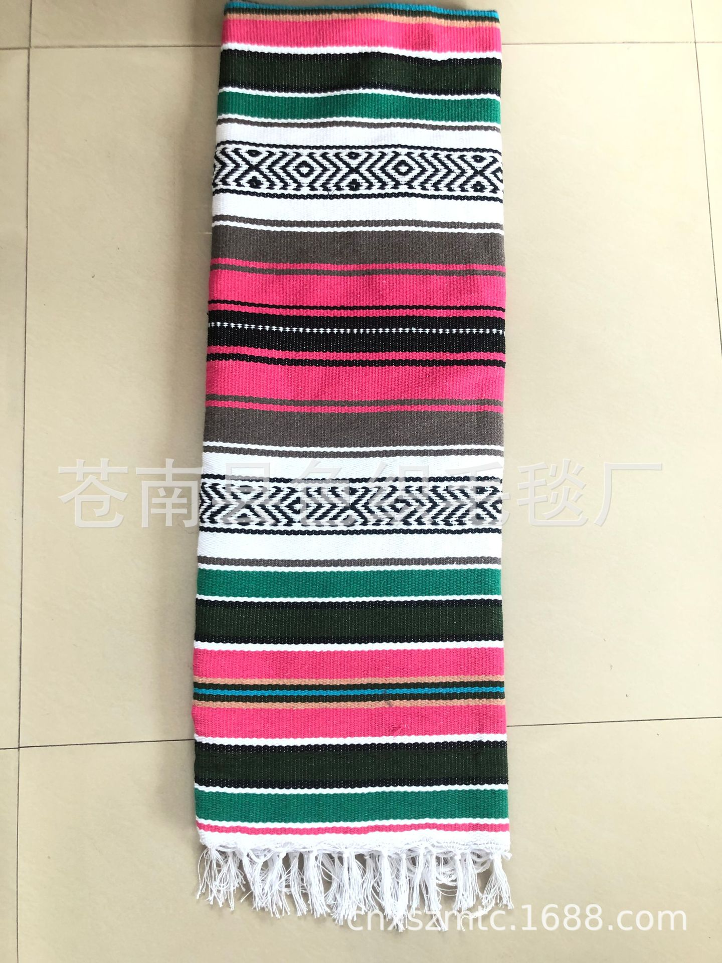 Colorful Striped Colors Shawl for Going to the Beach