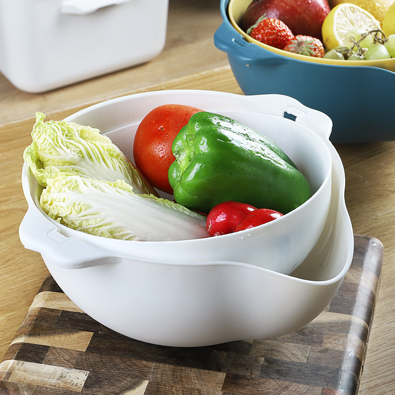 Rotating Drain Basket for Fruits and Vegetables